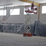 Evergreen gymnasium durng remodelling
