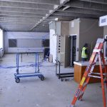 Evergreen classroom under remodeling