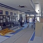 Valley main entry during remodeling