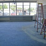 Valley classroom during remodeling