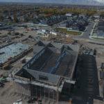 Riverfront construction site