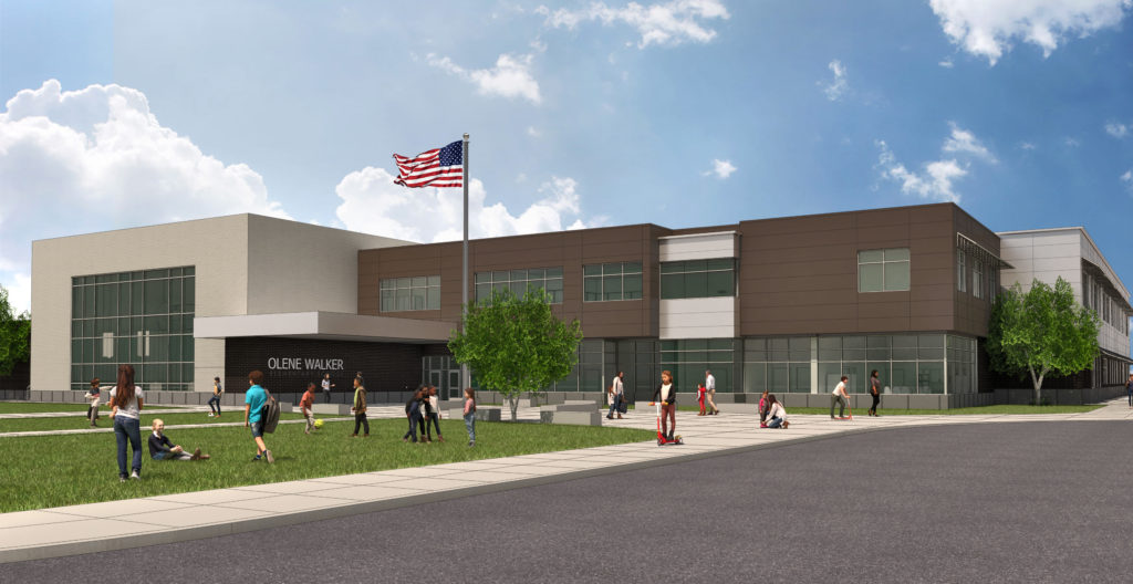 Architectural rendering of Olene Walker Elementary