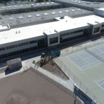 Aerial photo of Hunter High School addition wing