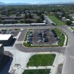 Aerial photo of Olene Walker Elementary building