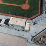 Aerial photo of Skyline High School construction site