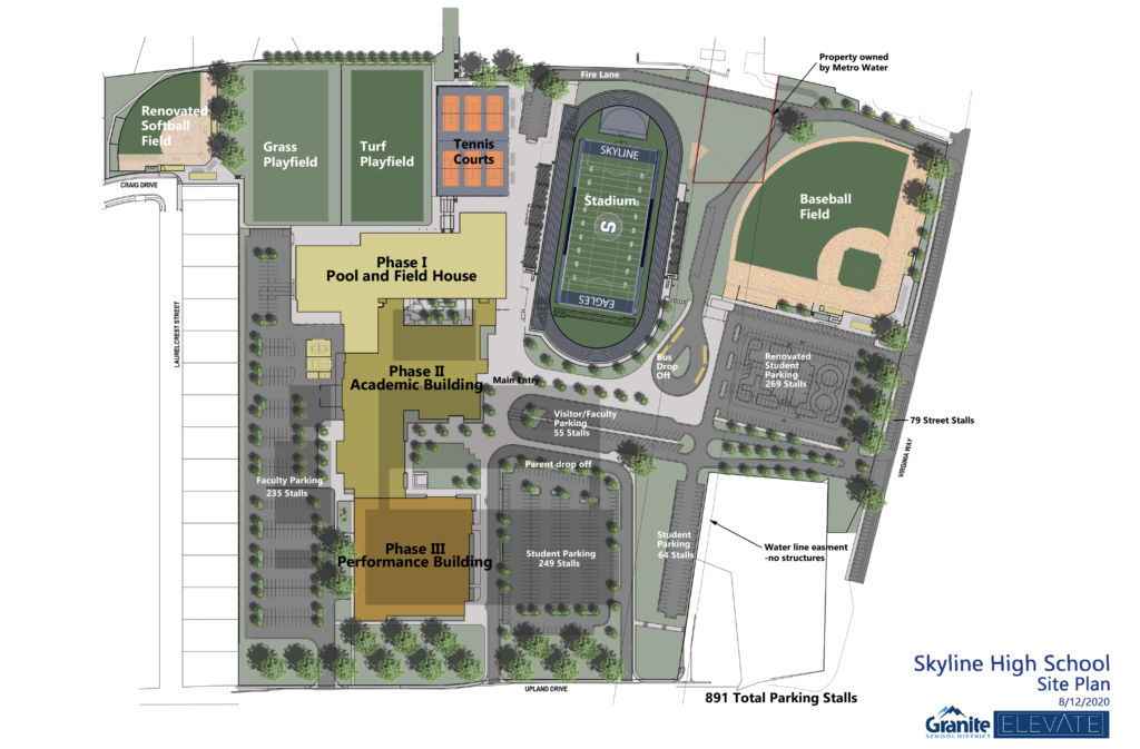 Skyline High site layout plan