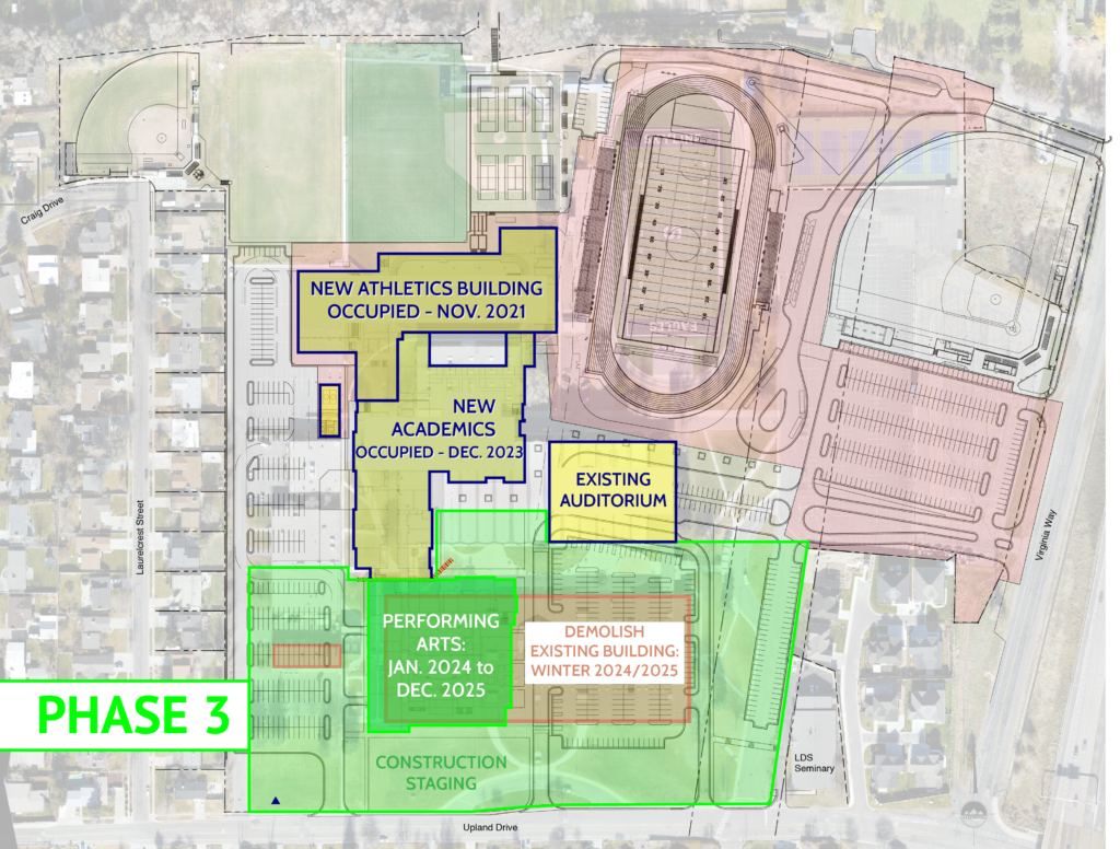 Phase 3 outline of Skyline High construction