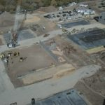 Aerial image of Skyline High construction site