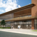 Rendering of Cyprus High School completed building