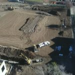 Aerial photo of Skyline High construction site